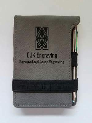Personalized Gray Leather Mini Pad Pen Notepad Company Logo Promotional Gift