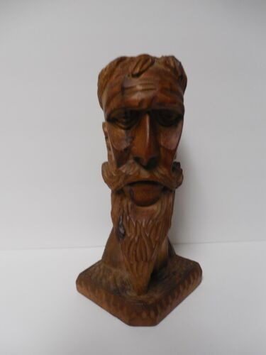Vintage Hand Carved Don Quixote Wood Bearded Man