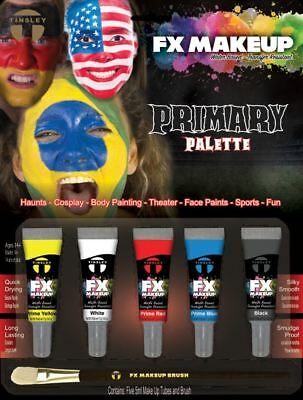 Clown Farbpalette (Tinsley Fx Farbe Make-Up Kits - Prime / Clown Palette)
