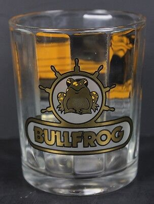 Rare Bullfrog Resort Marina High Ball Drinking Glass Lake Powell Gold Leaf  Frog