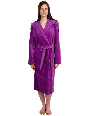 Terry Velour Bath Robe (TowelSelections Women's Robe, Hooded Terry Velour Cotton)