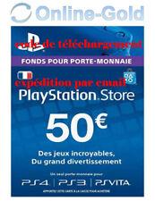 Compte français - Carte Playstation Network 50 EUR - €50 PSN Jeu PS3 PS4 PS Vita