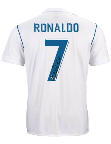 Real Madrid Shirt Signed By Cristiano Ronaldo 100% Authentic With COA