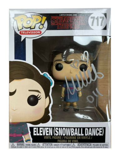 Stranger Things Funko Pop #717 Signed in Silver by Millie Bobby Brown 100% + COA