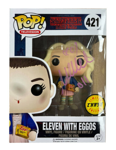 Ltd Ed Stranger Things Funko Pop #421 Signed by Millie Bobby Brown 100% With COA