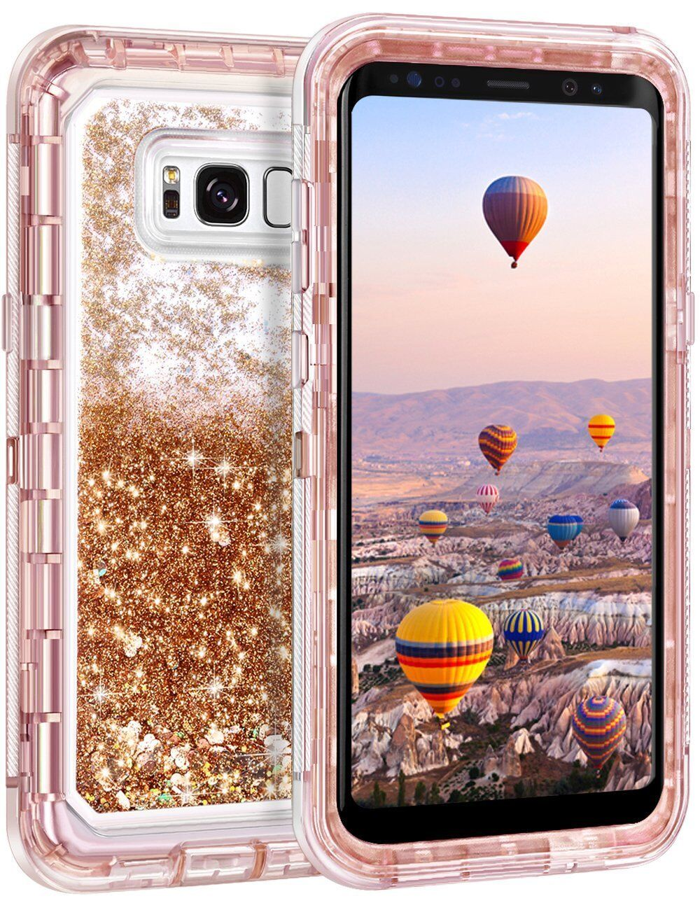 Купить Unbranded/Generic - Samsung Galaxy S9 Plus Liquid Glitter Quicksand Protective Shockproof Case Cover