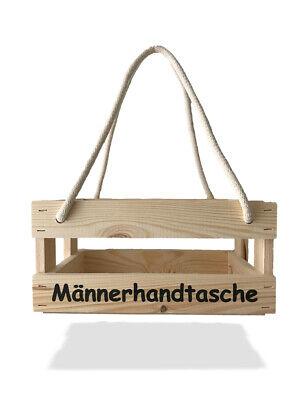 Holz Männerhandtasche TOP Männer Bier Geschenk Geschenkkorb Bierträger Leer