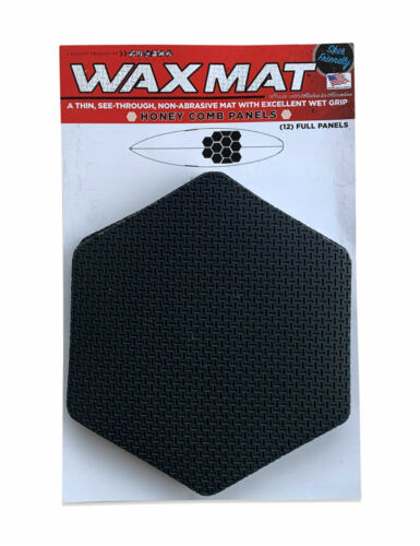 WAX MAT PANEL KIT, Honey Comb Surfboard Deck Traction Kit, Shortboard, Black NEW
