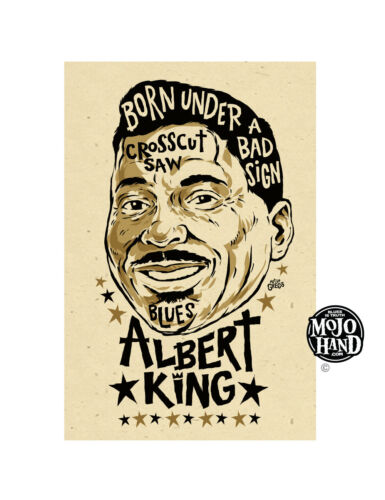 Albert King Blues poster from Mojohand - free US Shipping!