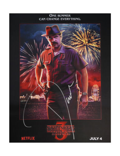 """12x16"""" Stranger Things Print Signed by David Harbour 100% Authentic With COA"""