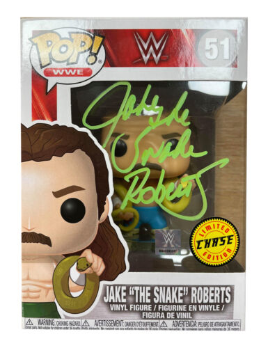 Jake The Snake Roberts Rare Chase Funko Pop Signed 100% Authentic With COA