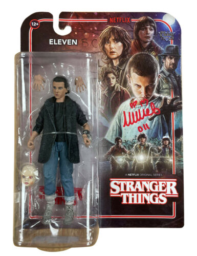 Stranger Things S2 Eleven Figure Signed by Millie Bobby Brown 100% With COA
