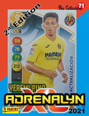 YEREMI PINO #357BIS VILLARREAL CF .ACTUALIZACION. ADRENALYN 2020-21 CARD PANINI