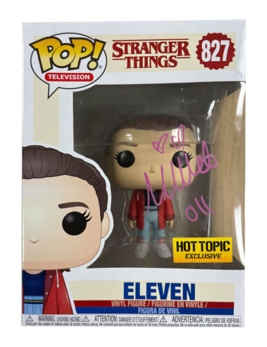 Stranger Things Funko Pop #827 Signed in Silver by Millie Bobby Brown 100% + COA