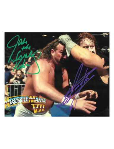 "10x8"" WWE WWF Print Signed By The Undertaker & Jake The Snake Roberts 100% + COA"
