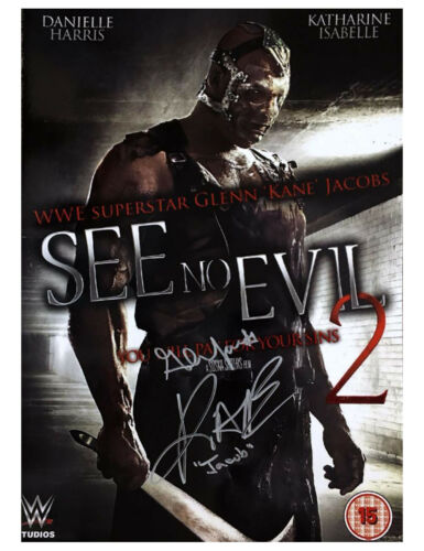 A3 See No Evil Poster 2 Signed by Kane 100% Authentic With COA