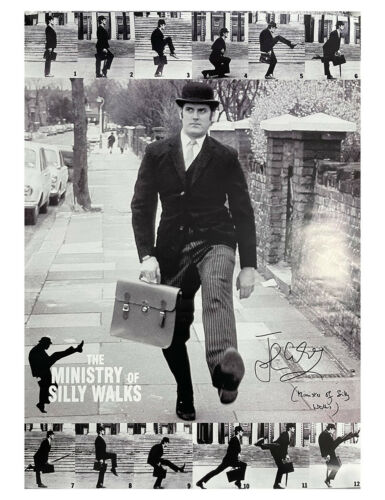 """24x36"""" Monty Python Silly Walks Giant Poster Signed by John Cleese 100% + COA"""