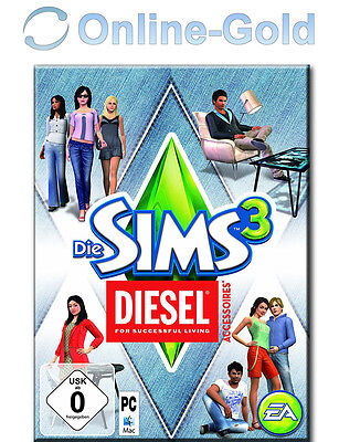 Sims 3 Diesel Stuff Key / Diesel Accessoires EA/ORIGIN Download Code [PC] Addon (Sims 3 Downloads)