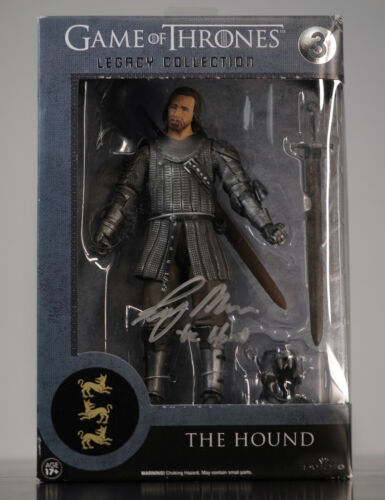 The Hound Game Of Thrones Figure Signed by Rory McCann 100% Authentic With COA