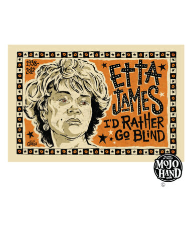 Etta James Blues poster from Mojohand - free US Shipping!
