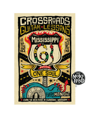Crossroads Blues Guitar Lessons poster from Mojohand - free US Shipping!