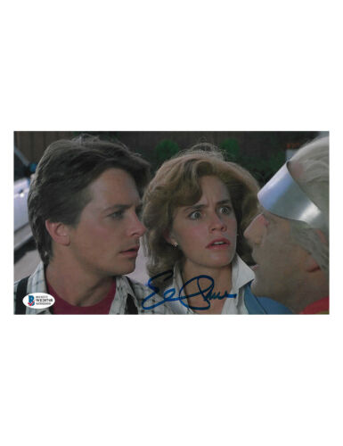 """10x6"""" Back to the Future Print Signed by Elisabeth Shue 100% Authentic With COA"""