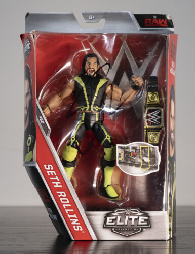 Signed Seth Rollins WWE Elite Action Figure 100% Authentic comes with COA