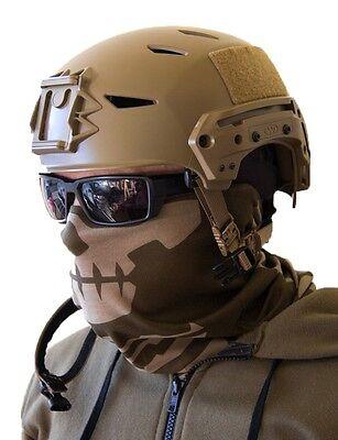 Milspec Monkey MSM SKULL FACE Mask Multi Wrap Devgru Head Gear DUSTY BROWN -NEW