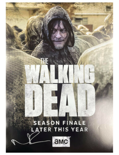 A2 The Walking Dead Poster Signed by Norman Reedus 100% Authentic With COA