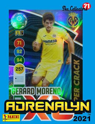 GERARD MORENO #459 VILLARREAL CF. SUPER CRACK. ADRENALYN XL 2020-21 CARD PANINI
