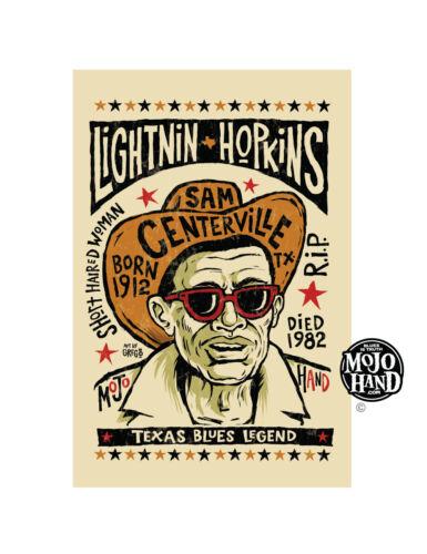 Lightnin Hopkins Blues poster from Mojohand - free US Shipping!