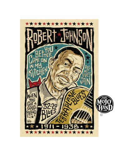 Robert Johnson Delta Blues poster from Mojohand - free US Shipping!
