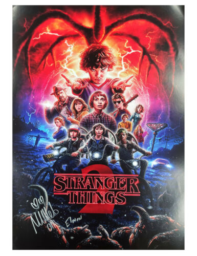 A2 Stranger Things S2 Poster Signed by Millie Bobby Brown 100% Authentic + COA
