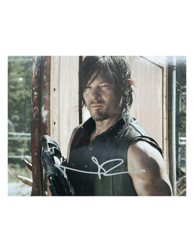 """10x8"""" The Walking Dead Print Signed by Norman Reedus 100% Authentic With COA"""