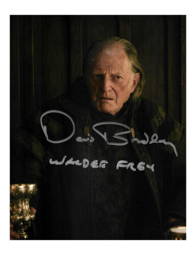 """8x10"""" Game of Thrones Print Signed by David Bradley 100% Authentic With COA"""