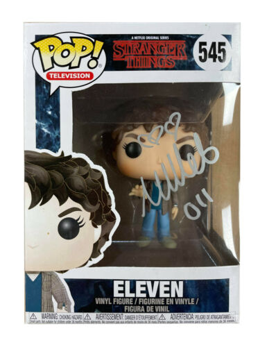 Stranger Things Funko Pop #545 Signed in Silver by Millie Bobby Brown 100% + COA