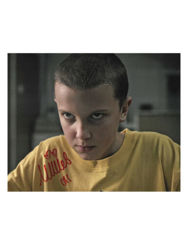 "10x8"" Stranger Things Print Signed by Millie Bobby Brown 100% Authentic With COA"