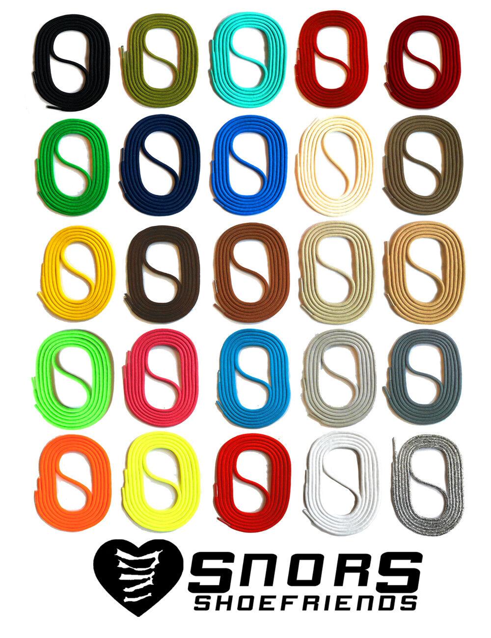 SCHNÜRSENKEL RUNDSENKEL 60-150cm 3mm SNORS Schuhsenkel Schuhband auch für Kinder