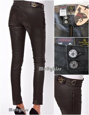 a87555dc NWT AUTHENTIC VIVIENNE WESTWOOD ANGLOMANIA FOR LEE BLACK SKINNY JEANS Sz-26  $268