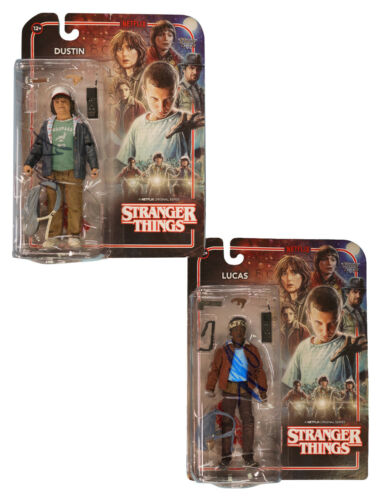 Stranger Things McFarlane Dustin & Lucas Figure Signed Figures 100% With COA