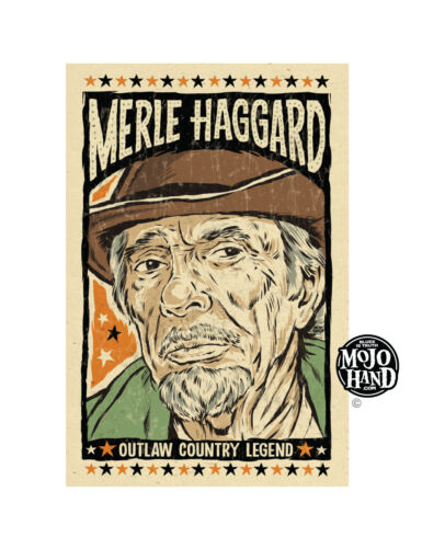 Merle Haggard outlaw country art print