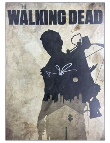 A3 The Walking Dead Poster Signed by Norman Reedus 100% Authentic With COA