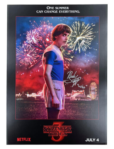 A3 S3 Stranger Things Will Poster Signed by Noah Schnapp 100% Authentic With COA