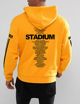 Purpose Tour Stadium Tour Yellow Hoodie Stadium 2017 Justin Bieber  Usa Stock