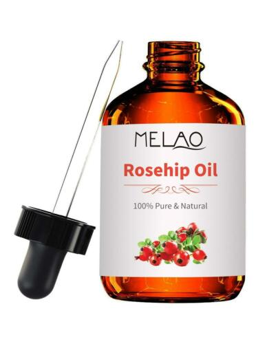 Organic Rosehip Seed Carrier Oil - 4 oz Pure Cold Pressed Un