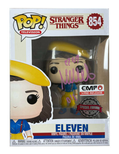 Stranger Things Funko Pop #854 Signed in Pink by Millie Bobby Brown 100% + COA