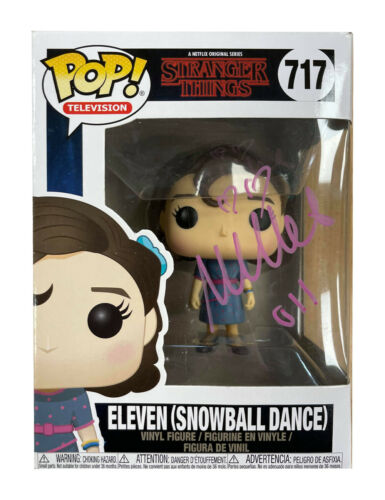Stranger Things Funko Pop #717 Signed in Pink by Millie Bobby Brown 100% + COA