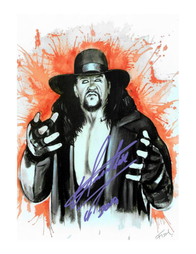 The Undertaker Mark Calaway WWE WWF Autograph 100% Authentic comes with COA