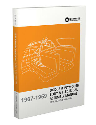 1967 1968 1969 Barracuda Valiant Electrical Body Assembly Manual Plymouth for sale  Shipping to Canada