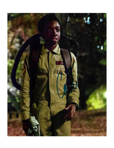 "8x10"" Stranger Things Print Signed By Caleb McLaughlin 100% Authentic With COA"